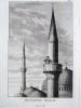 GRAVURE ORIGINALE. Muezzin public. Muezzin particulier. Planche originale issue du Tableau général de l'Empire othoman de Mouradja (Mouradgea) ...