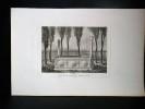 GRAVURE ORIGINALE. Tombeau de M. le Comte de Bonneval Ahmed Pascha. Planche originale issue du Tableau général de l'Empire othoman de Mouradja ...