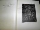 Cent reliures de la Bibliothèque Nationale. . MEUNIER, Charles.