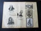Boulogne sur Mer. Ensemble de 26 Photographies originales de Boulogne-sur-Mer avec décors et illustrations manuscrits Belle Epoque (circa 1900). . ...