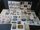Vie Quotidienne. Ensemble de 57 Photographies originales sur le thème de la Vie quotidienne dans les années 1900, avec décors et illustrations ...