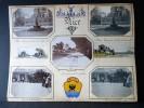 Nice-Menton. Ensemble de 33 Photographies originales de Nice et Menton avec décors et illustrations manuscrits Belle Epoque (circa 1900). . [ANONYME]. ...