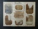 Souvenirs de Belgique. Ensemble de 50 Photographies originales de Bruxelles, Anvers, Ostende et Bruges, avec décors et illustrations manuscrits Belle ...