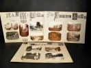LA FERTÉ MILON. Ensemble de 13 photographies originales, avec décors et illustrations manuscrits Belle Epoque (circa 1900). [PASSERELLE DU MAIL ...