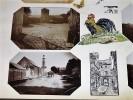 BERNES. Ensemble de 13 photographies originales, avec décors et illustrations manuscrits Belle Epoque (circa 1900). . [ANONYME].