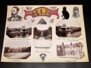 MELUN. Ensemble de 10 photographies originales, avec décors et illustrations manuscrits Belle Epoque (circa 1900). . [ANONYME].