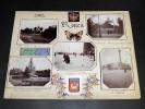 ROUEN - NORMANDIE. Ensemble de 15 photographies originales, avec décors et illustrations manuscrits Belle Epoque (circa 1900). . [ANONYME].