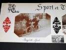 SPORT et TRANSPORT. CYCLES. Ensemble de 2 photographies originales, avec décors et illustrations manuscrits. Belle Epoque (circa 1900). . [ANONYME].
