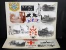 [SEINE-SAINT-DENIS] NOISY-LE-SEC BONDY PANTIN. Ensemble de 7 photographies originales, avec décors et illustrations manuscrits Belle Epoque (circa ...