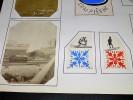 COMPIEGNE. Ensemble de 4 photographies originales, avec décors et illustrations manuscrits Belle Epoque (circa 1900). . [ANONYME].