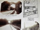 MAINTENON. Ensemble de 9 photographies originales, avec décors et illustrations manuscrits Belle Epoque (circa 1900). . [ANONYME].