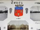 TOURS. Ensemble de 5 photographies originales, avec décors et illustrations manuscrits Belle Epoque (circa 1900). . [ANONYME].