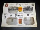 NOYON POITIERS. Ensemble de 4 photographies originales, avec décors et illustrations manuscrits Belle Epoque (circa 1900). . [ANONYME].