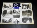 GIF-SUR-YVETTE BURES-SUR-YVETTE. Ensemble de 8 photographies originales, avec décors et illustrations manuscrits Belle Epoque (circa 1900). . ...
