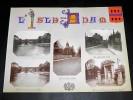 L'ISLE-ADAM. Ensemble de 5 photographies originales, avec décors et illustrations manuscrits Belle Epoque (circa 1900). . [ANONYME].