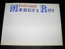 LOUVECIENNES MARLY-LE-ROI. Dessin original, titre illustré et manuscrit façon enluminure. Belle Epoque (circa 1900). [ENLUMINURE TYPOGRAPHIE]. ...