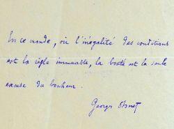 Maxime de Georges Ohnet sur l'inégalité des conditions et la bonté.. Georges Ohnet (1848-1918) Ecrivain populaire, il s'oppose au mouvement ...