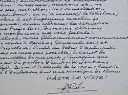 Truculente correspondance d'Aldo Ciccolini sur ses voyages en avion.. Aldo Ciccolini (1925-2015) Pianiste, l'un des plus grands du XXe siècle.