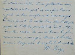 Manuscrit musical d'une romance de Wilhelm Krüger.. Wilhelm Krüger (1820-1883) Pianiste et compositeur allemand, il s'installe à Paris en 1845 et ...