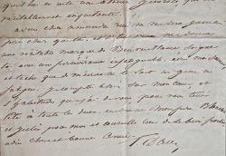 Le comte Pierre Raymond Hector d'Aubusson écrit à sa cousine Amanda d'Aubusson.. Comte Pierre Raymond Hector d'Aubusson (1765-1848) Sous le Premier ...