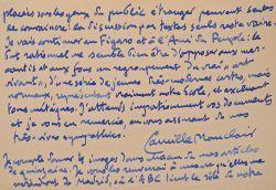 Lettres de Camille Mauclair à Maurice Feuillet. Camille Mauclair (1872-1945) Poète, romancier et critique, disciple de Mallarmé.