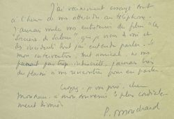 """Pierre-Aimé Touchard souhaite entretenir Sartre du film """"Les Sorcières de Salem"""".. Pierre-Aimé Touchard (1903-1987) Administrateur de théâtre et ..."""