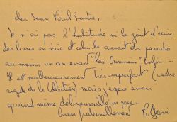 Philippe Gavi adresse son dernier livre à Jean-Paul Sartre ..