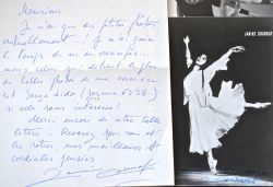 Série de belles photos originales (dont une dédicacée) de la chorégraphe Janine Charrat.. Janine Charrat (1924-0) Danseuse, chorégraphe et directrice ...