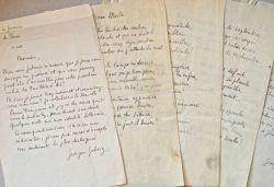 Manuscrit du poème de Georges Gabory, Élégie à une morte.. Georges Gabory (1899-1978) Poète promis à un brillant avenir, proche des Surréalistes, ami ...