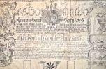 Magnifique charte de mariage allemande entièrement calligraphiée et enluminée..