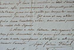 Intéressant dossier sur l'arrestation du maire de Strasbourg, Philippe-Frédéric de Dietrich.. Jean Pascal Raymond Carlenc (1743-1828) Général ...