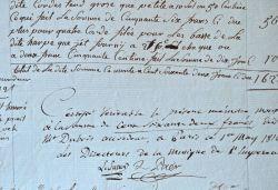 Fourniture d'une harpe et d'un piano pour le service de l'Empereur.. Fernandino Paër (1771-1839) Compositeur italien, kapellmeister à Vienne, Dresde ...