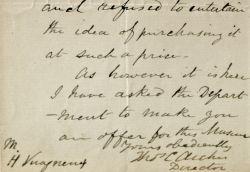 Le directeur du Muséum d'Edinburgh reçoit deux stèles funéraires de Perse.. Thomas Croxen Archer (1817-1885) Botaniste anglais, il est membre de la ...
