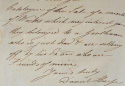 Le géologue anglais Daniel Sharpe envoie un catalogue de vente.. Daniel Sharpe (1806-1856) Géologue anglais, président de la Geological Society of ...