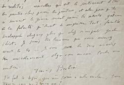 Amère lettre de Francis Picabia sur les artistes des Réalités nouvelles.. Francis Picabia (1879-1953) Peintre dadaiste puis surréaliste.