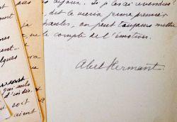 Manuscrit d'une chronique d'Abel Hermant sur Henrik Ibsen.. Abel Hermant (1862-1950) Romancier, de l'Académie française.