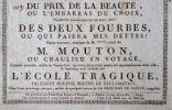Annonce d'un spectacle de charité au Théâtre des Variétés en 1806..