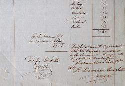 Rémunération des danseurs qui ont exécuté un quadrille devant l'Impératrice Joséphine.. Auguste Laurent Rémusat (comte de) (1755-1823) Premier ...