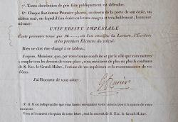 Frédéric Cuvier nomme un instituteur durant l'Empire.. Frédéric Cuvier (1773-1838) Anthropologue et zoologiste. Nommé directeur de la Ménagerie du ...