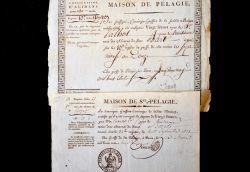 Deux documents émanant de la prison de Sainte-Pélagie sous l'Empire..