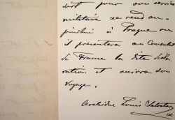 L'archiduc Louis-Salvador facilite les démarches d'Auguste Dufour à Prague.. Louis Salvador Habsbourg-Lorraine (de) (1847-1915) Voyageur et géographe ...