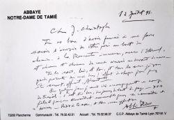 Belle lettre de l'Abbé Pierre à celui qui se disait être son fils.. Henri Grouès dit Pierre (abbé) (1912-2007) Prêtre et philanthrope, fondateur du ...