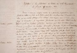 Rapport de visite de la filature de coton de Bauchart, à Saint-Question, en 1840..