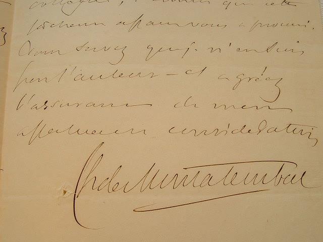Le comte de Montalembert regrette son discours.. Charles Montalembert (comte de) (1810-1870) Historien, fondateur avec Lamennais du journal l'Avenir, ...