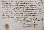 Deux missives de Mgr de Caulet, évêque de Grenoble au XVIIIe.. Jean de Caulet (1693-1771) Evêque de Grenoble (1727-1771).