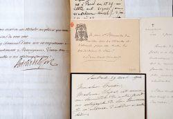 Trois lettres d'archevêques de Lyon, XVIIIe-XXe.. Pierre-Hector Coulli? (1829-1912) Archevêque de Lyon (1893-1912) et cardinal (1897), il consacre la ...