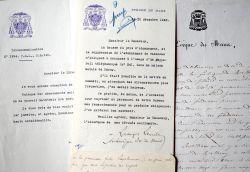 Quatre lettres d'évêques du Mans.. Georges Grente (1872-1959) Cardinal, évêque-archevêque du Mans (1918-1959), académicien, historien et essayiste. Il ...