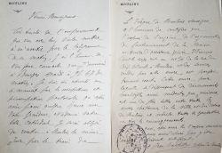 Le nouvel évêque de Moulins prend conseil auprès de l'archevêque de Bourges.. Jean-Baptiste Penon (1850-1929) Evêque de Moulins (1911-1926).