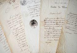 5 lettres début XIXe de l'évêque de Metz, Mgr Jauffret.. Gaspard-André Jauffret (1759-1823) Evêque de Metz (1806-1811 puis 1815-1823), et archevêque ...