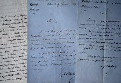 4 lettres de Mgr Morlot et Mgr Dupanloup, évêques d'Orléans.. François Nicolas Madeleine Morlot (1795-1862) Cardinal, évêque d'Orléans (1839), ...